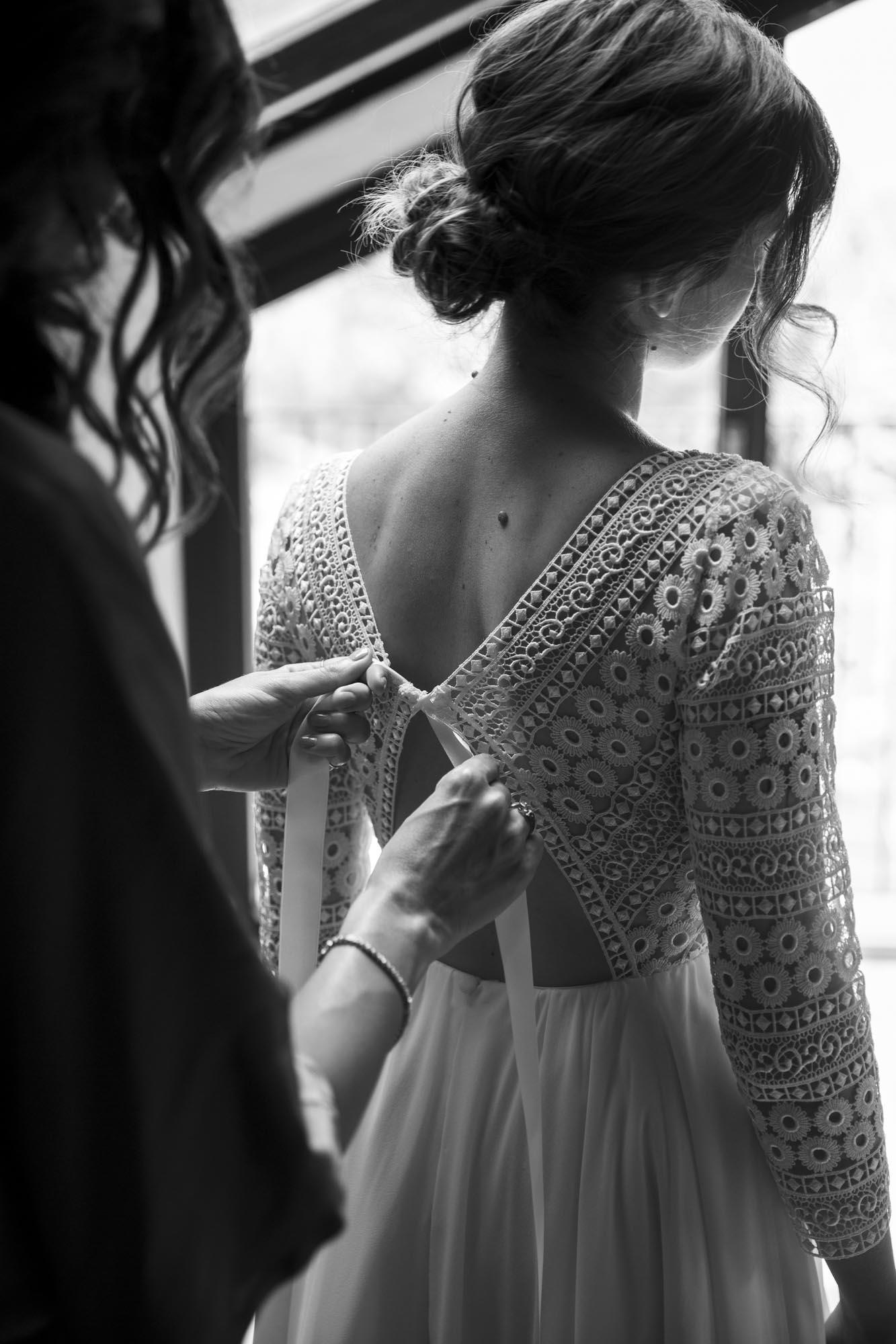 Abito della sposa, artigianato handmade di Nadia Manzato