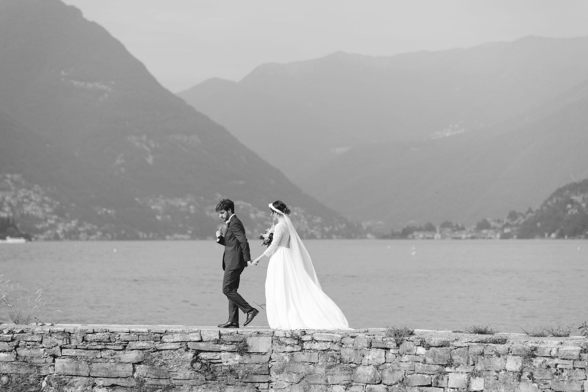 Sposi sul Lago di Como