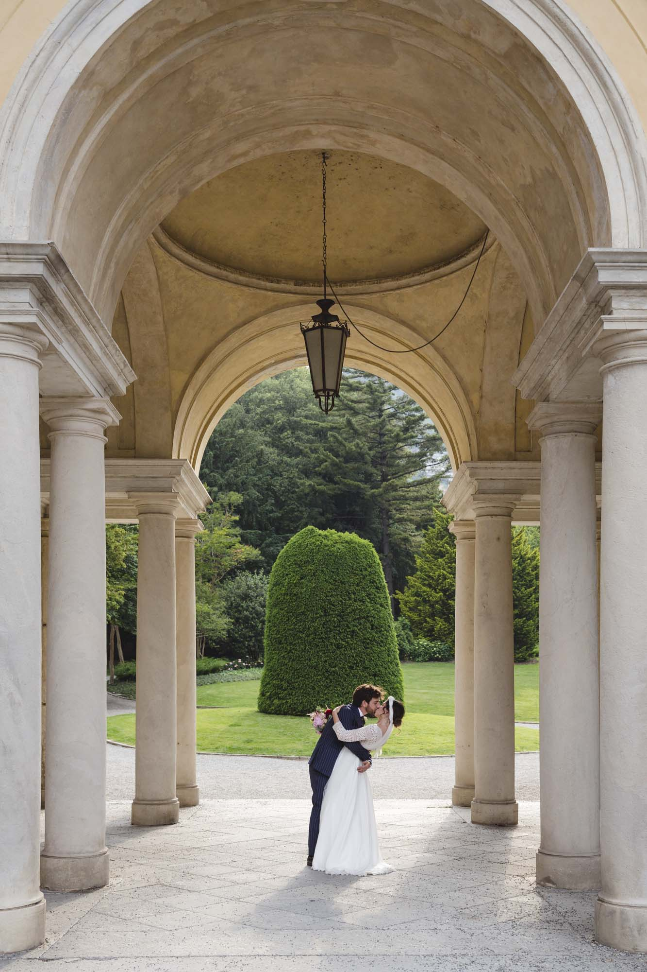 Just Married in Villa Olmo